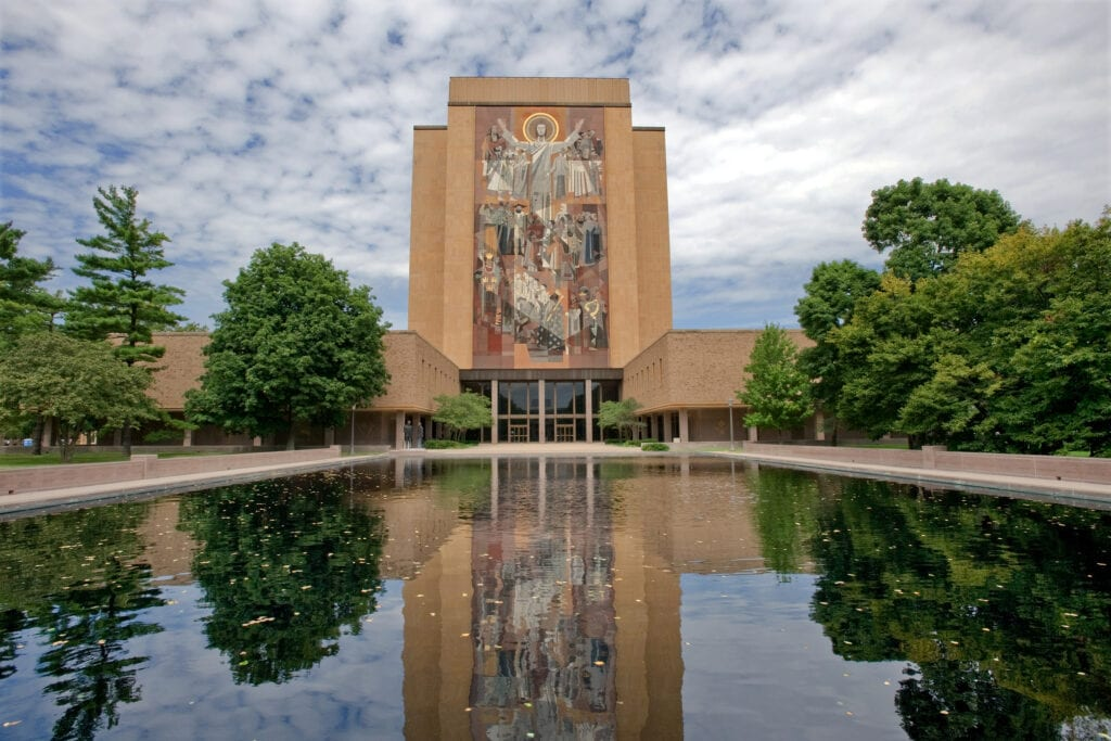 Hesburgh Library of University of Notre Dame, Indiana